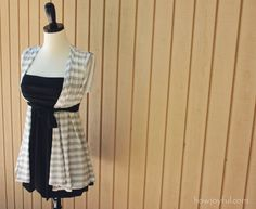 Upcycle: T-shirts to Summer vest tutorial Take an old t-shirt and turn it into a cute summer vest! Upcycle T Shirts, Old Shirts, Shirt Refashion, Clothes Refashion, Diy Shirt, Diy Clothing, Sewing Clothes, Summer Vest, Summer Cardigan