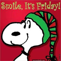 Snoopy Christmas Smile Its Friday