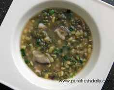 Sprouted Mung Bean and Miso Soup-great for digestion, lowering cholesterol, and balancing blood sugar!