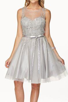 Cocktail Beaded Short Dress JT776