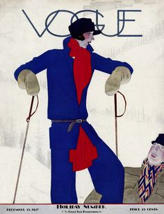Illustrated by Pierre Mourgue, Vogue, December 15, 1927