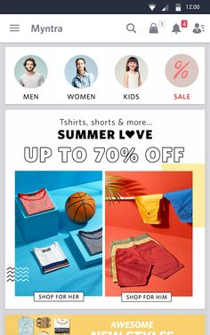 Myntra Online Shopping App- screenshot Ecommerce App, Summer Of Love, Google Play, Online Shopping, Apps, T Shirt, Fashion, Supreme T Shirt, Moda