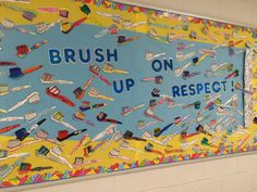 I love this bulletin board on respect! We did an activity about mean words using toothpaste (squeeze it out easily, but can't put it back in). awesome hands-on connection!