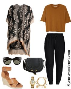 Shop Your Screenshots™ with LIKEtoKNOW. Summer Fashion For Teens, Trendy Summer Outfits, Summer Clothing, Plus Size Fall Outfit, Plus Size Outfits, Summer Work Outfits Plus Size, Summer Kimono, Looks Plus Size, Cute Fashion