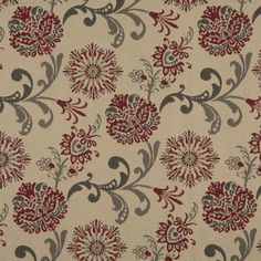 The K3017 upholstery fabric by KOVI Fabrics features Floral, Foliage pattern and Beige or Tan or Taupe, Brown, Burgundy or Red or Rust as its colors. It is a Damask or Jacquard, Marine Fabric, Outdoor or Indoor, Tweed type of upholstery fabric and it is made of 100% Solution Dyed Woven Olefin material. It is rated Exceeds 50,000 Double Rubs (Heavy Duty) which makes this upholstery fabric ideal for residential, commercial and hospitality upholstery projects. This upholstery fabric is 54…