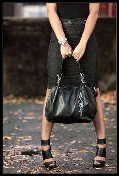 Black URBAN MOXY Concealed Carry Purse Locking Gun Holster Pocket Concealment  #UrbanMoxy #ShoulderBag