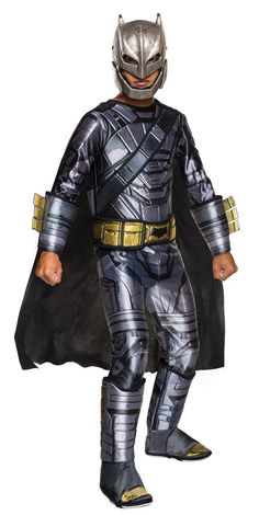 Batman v Superman: Dawn of Justice - Kids Deluxe Armored Batman Costume from Buycostumes.com