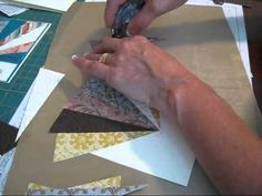 cardmaking video .... Sunburst Technique www.frenchiestamps.com ... Frenchie shows one method of making the popular sunburst pattern with designer papers ... several useful tips on general cardmaking too ...