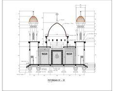 Masjid – irwanarnoleste What is Art ? Mosque Architecture, Architecture Sketchbook, Futuristic Architecture, Architecture Plan, Plan Autocad, Modern House Facades, Modern Stairs, House Front Design, Facade House