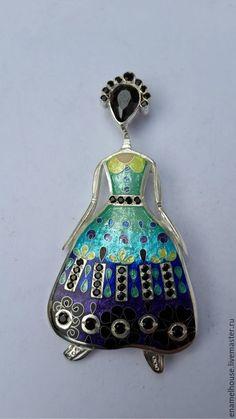 """Кулон """" Платье для золушки"""" - разноцветный, Минанкари, подарок, кулон, авторская ручная работа"""