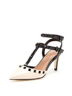 Alexis T strap studded mid size heel...so nice!