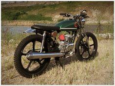 "AD's '85 Kawasaki KH100 - ""ThePickle"" - Pipeburn - Purveyors of Classic Motorcycles, Cafe Racers & Custom motorbikes"