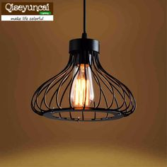 American country industrial wind iron loft retro cafe bar chandelier lighting creative modern minimalist lighting