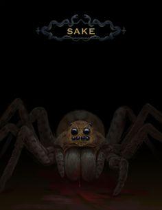 Spider - Halloween October 2015 Portfolio Covers, Wine Art, Halloween Spider, All Art, Cover Art, Lion Sculpture, October, Darth Vader, Statue