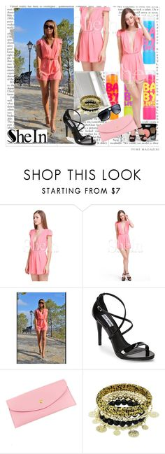 """""""Sheinside VII-6"""" by zijadaahmetovic ❤ liked on Polyvore featuring Maybelline, Steve Madden and Sheinside"""