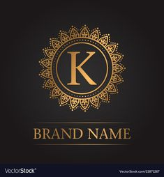 Luxury gold template monogram vector image on VectorStock Luxury Logo Design, Best Logo Design, Creative Logo, Logo Monogramme, Logo Fleur, Logo Simple, Letter Photography, Fire Image, Alphabet Wallpaper