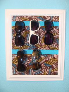 Frame your favorite frames with this DIY holder for sunglasses.