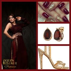 Ethnic burgundy dress from our pret collection