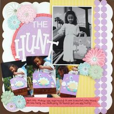 The Hunt - Traditional Tuesday Scrapbooking Layout from Creative Memories http://www.creativememories.com