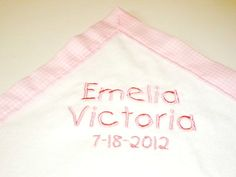 Baby Blanket Personalized / Monogrammed  by TrudyClaireDesigns, $30.00