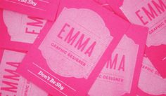 30 Sweet Pink Business Cards - SloDive