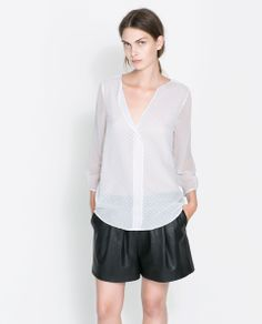COMBINATION BLOUSE | $49.90 #Fashion #Trending #Womens Fashion | Visit WISHCLOUDS.COM for more...