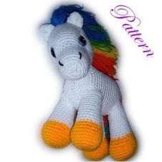 Free Crochet Horse Pattern - looks like Starlite from Rainbow Brite