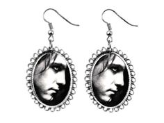 the cure robert smith Earrings silver plated oval pendant charm