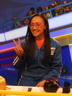 """Cymphonique On Nickelodeon's """"Figure It Out"""" She's so funny (: Cymphonique Miller, Figure It Out, Celebs, Celebrities, Tv Shows, Hairstyle, Funny, Rock, Hair Job"""