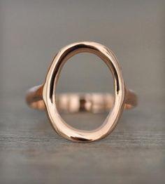14k Gold Circle Ring | Porter Gulch