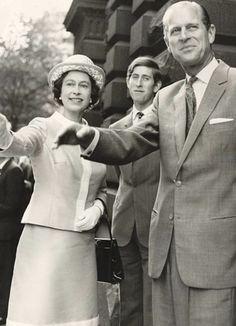 Elizabeth, Charles and Philip