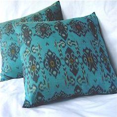 Ikat Pillows Set of Teal Fresh Living Room, Ikat Pillows, Pillow Cases, Teal, New Living Room, Turquoise