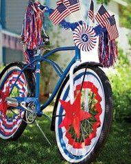 Patriotic Bike Decor