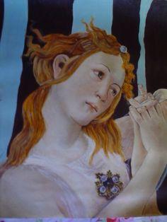 Riproduzione del particolare della primavera di Botticelli