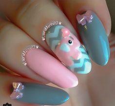 Little cute pink elephant