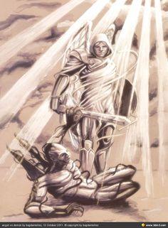 angel vs demon by bogdantellez - Community for CG Artists