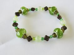 """Forever Green And A Tower Of Strength """"Spruce"""" Will Shiver Your Timbers A Stretchable Elastic Cord Bracelet"""