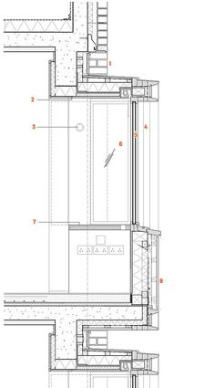 Curtain wall detail bing images architecture details for Window design cement