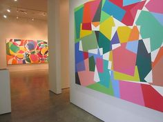 Installation view of Graciela Hasper, Sicardi Gallery, Philadelphia Museum Of Art, Wall Decor, Wall Art, Light Installation, Museum Of Fine Arts, Accent Colors, Contemporary Artists, Art History, Art Gallery