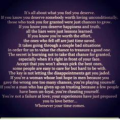 Love. Deserve better.