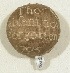 Pin ball. England, 1795. Hand knit silk. From Snowshill Wade Costume Collection (National Trust): 1349993
