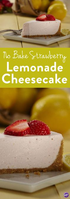 Here's an easy no-bake cheesecake recipe - Strawberry Lemonade Cheesecake! With the tangy taste of lemon and the refreshing flavor of strawberry, this cheesecake is a sure hit at your next celebration.