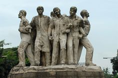 United we stand and walk hand-in-hand. Memorial dedicated to the slain. Street  near Dhaka University area.<br />  Dhaka (Bangla: ঢাকা, pronounced [ɖʱaka])— (Dacca) is the capital city of Bangladesh (Bengali: বাংলাদেশ [ˈbaŋlad̪eʃ] Bangladesh). Dhaka, located on the banks of the Buriganga River is a megacity with a population of over 12 million. Dhaka is known as the City of Mosques and renowned for producing the world's finest muslin. it is a center for culture, education and business.