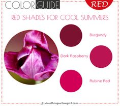 The best red color shades for Cool Summer seasonal color women