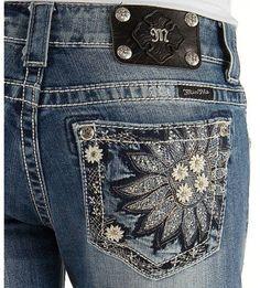Miss me sunflower jeans