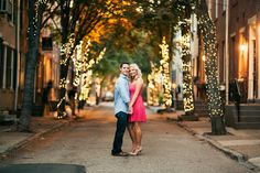 """""""Pretty In Pink"""" Old City Engagement Session by We Laugh We Love Photography"""