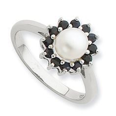 Sterling Silver Rhodium 6mm Fw Cult Button Pearl & Sapphire Ring, Size 6 Shop4Silver,http://www.amazon.com/dp/B007A7L7S0/ref=cm_sw_r_pi_dp_dpj3sb1N4ZVATTJZ