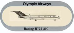 Olympic Airways Sticker Boeing B727-200 Olympic Airlines, Airplanes, Olympics, Greece, Sticker, Profile, Image, Greece Country, User Profile