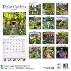 Garden Calendar - English Gardens Calendar - Calendars 2016 - 2017 Wall Calendars - Flower Calendar