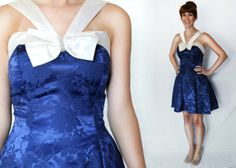1980s Extra Small XS Royal Blue Sailor Prom by LoveologyVintage, $48.00